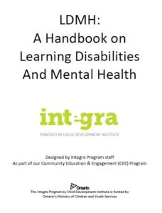 Front page of handbook