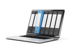 Laptop with binders